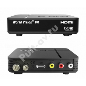 Цифровой эфирный ресивер DVB T2 World Vision T34
