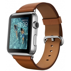 Часы Apple Watch 42mm (коричневая кожа)