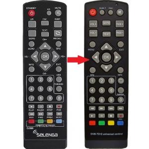 Selenga Т40 пульт для Цифровой Эфирный ТВ приемник DVB-T/T2/C